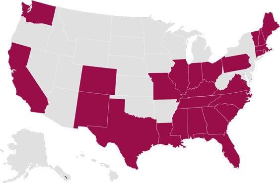 USA Coverage Map